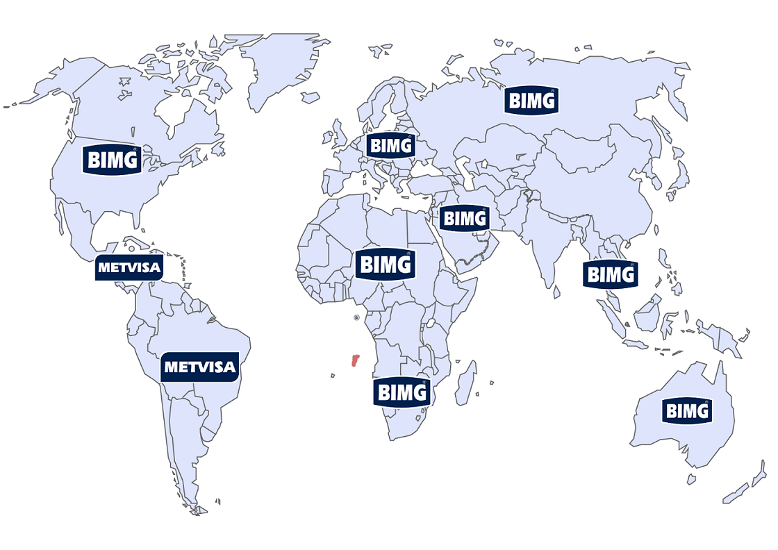 Mapa export Metvisa Bimg Brasil